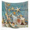 Fishnet Starfish 3D Printing Home Wall Hanging Tapestry for Decoration - MULTI-A