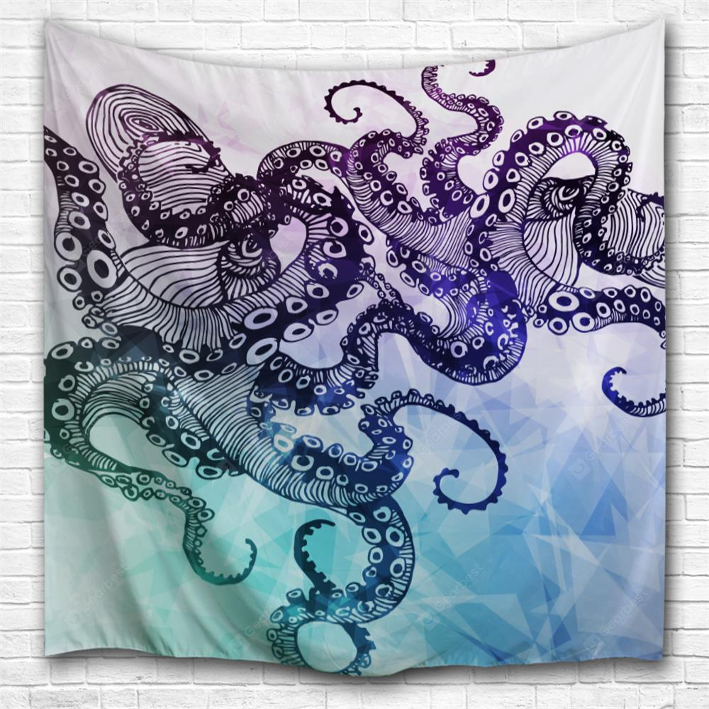 An Octopus 3D Printing Home Wall Hanging Tapestry for Decoration