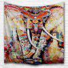 Painted Elephant 3D Printing Home Wall Hanging Tapestry for Decoration - MULTI-A