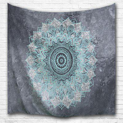 Blue Grey Datura 3D Printing Home Wall Hanging Tapestry for Decoration