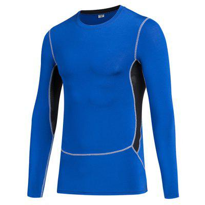 Men'S Body Tights Basketball Compressed Run Quickly Dry Long Sleeves T-Shirt