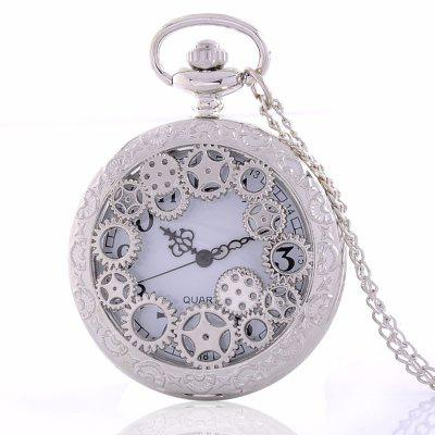 Antique Hollowed Gear Quartz Pocket Watch