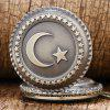 Bronze Moon Star Circle Quartz Pocket Watch Necklace Pendant Gift List - BRONZE
