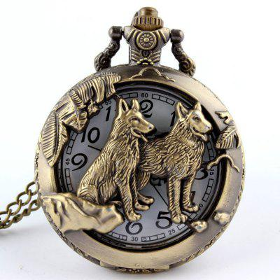 Fashionable Husband and Wife Wolf New Pocket Watch