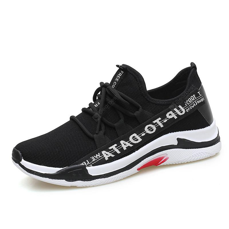 ZEACAVA The Latest Fashion Sports and Leisure Flying Weaving Men's Shoes