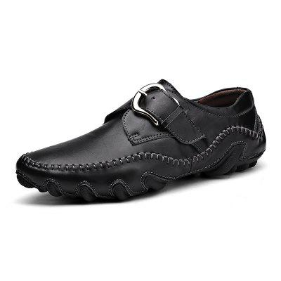 ZEACAVA Men's Fashion Casual Leather Skin Driving Peas Shoes