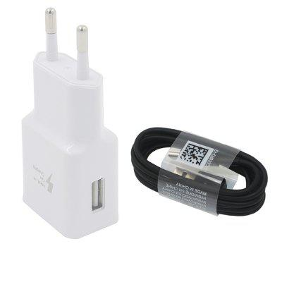 Minismile Quick Charger Travel USB Wall Power Adapter with USB 3.1 Type-C Cable