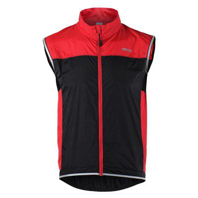 ARSUXEO Men's Sleeveless Jersey Running Training Cycling Windproof Vest muting indoor cycling indoor training station cycling exercise station bike trainer physical for long distance match