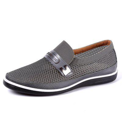 Männer Casual Atmungsaktives Mesh-Tuch Slip On Oxfords Schuhe