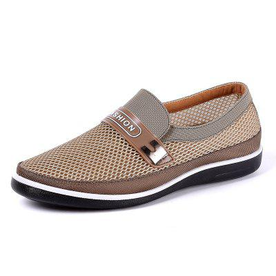 Men Casual Breathable Mesh Cloth Slip On Oxfords Shoes