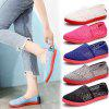 Women Summer Sports Sandals Woven Sneakers Soft Slip On Flats Size - VIOLET RED