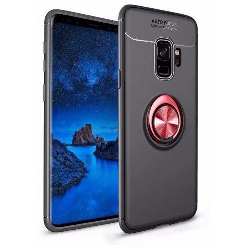 the best attitude 08c80 519a6 For Samsung Galaxy S9 Case Hybrid Dual Layer 360 Degree Rotating Ring  Kickstand