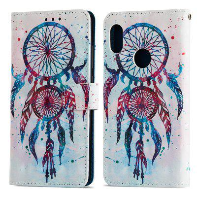 3D Wallet Stand Case voor Xiaomi Redmi Note 5 Pro Color Wind Bell Pattern