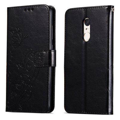 Embossed Flip Case for Xiaomi Redmi Note 4 / Note 4X PU Leahter Back Cover
