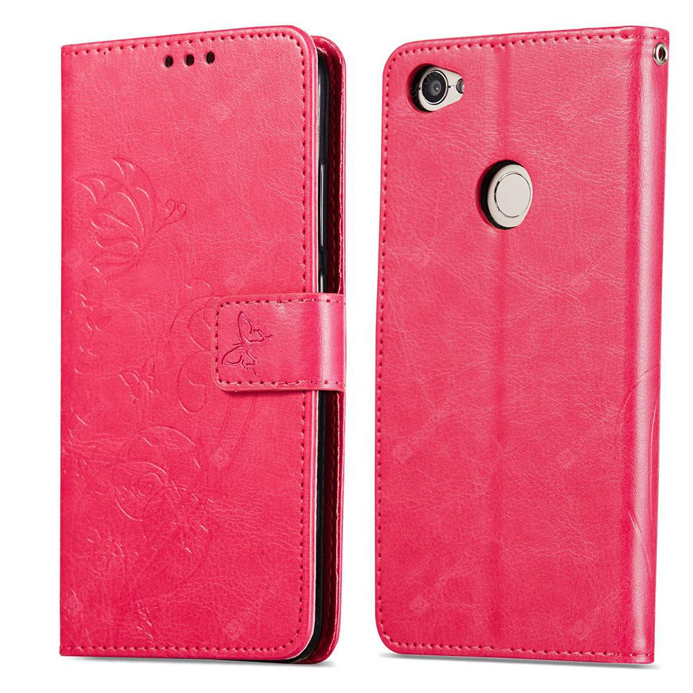 Embossed Flip Case for Xiaomi Redmi Note 5A PU Leahter Back Cover