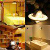 BRELONG Body Sensing Spacecraft Night Light 360-degree Rotating Corridor Light - WARMWEIß