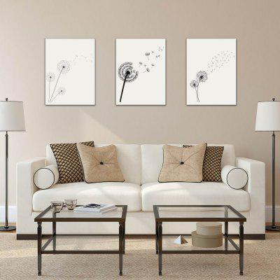 W222 Dandelion Unframed Art Wall Canvas Prints for Home Decorations 3 PCS