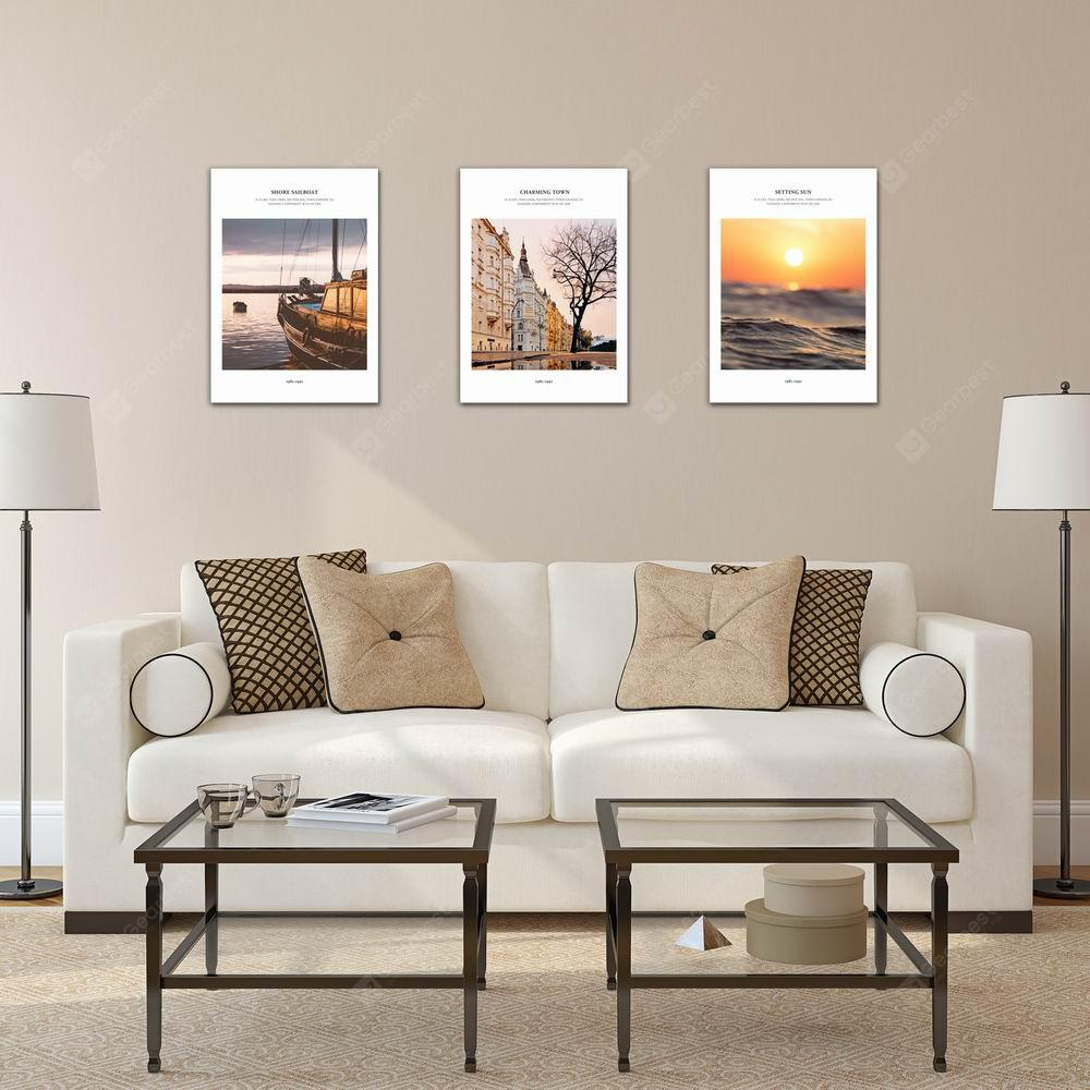 W230 Scenery Unframed Art Wall Canvas Prints for Home Decorations 3 PCS