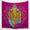 Elephant God 3D Printing Home Wall Hanging Tapestry for Decoration - MULTI-A