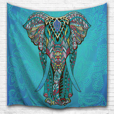 Blue Elephant 3D Printing Home Wall Hanging Tapestry for Decoration