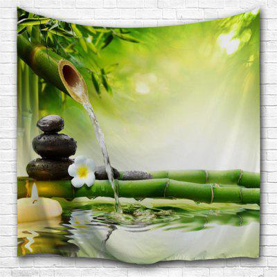 Zen Water Bamboo 3D Printing Home Wall Hanging Tapestry For Decoration