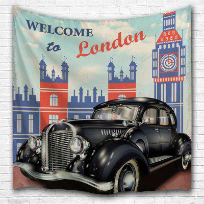 Retro Car 3D Printing Home Wall Hanging Tapestry for Decoration