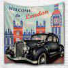 Retro Car 3D Printing Home Wall Hanging Tapestry for Decoration - MULTI-A