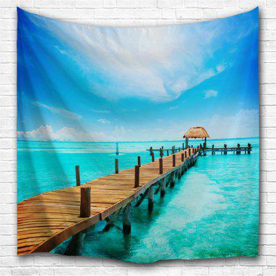 Island Pier 3D Printing Home Wall Hanging Tapestry for Decoration