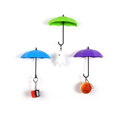 Colorful Umbrella Shape Wall without Trace Storage Hook