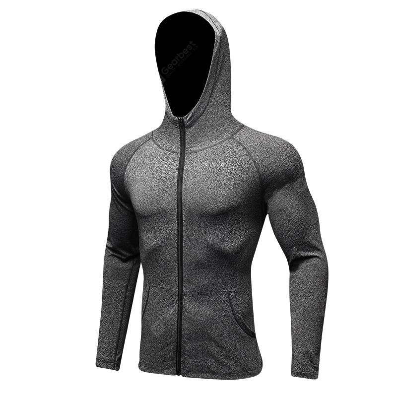 Men'S Sports Leisure Running Training Hooded and Fast ...