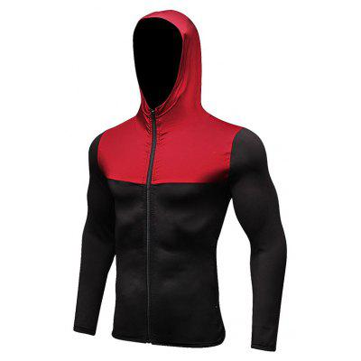 Fitness Jacket Men'S Run Outdoor Sports Leisure Hooded Fast Dry Cardigan Sweater