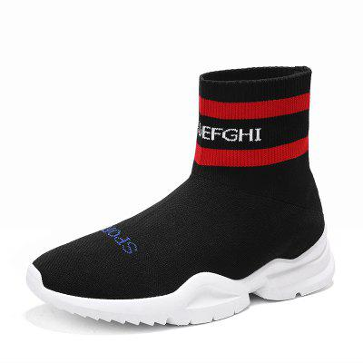 Men's Four Seasons Models High-Top Casual Fly Knitting Socks Shoes
