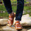 MUHUISEN Men Fashion Summer Soft Leather Beach Sandals - BROWN