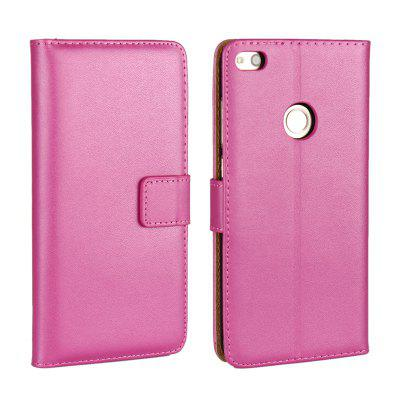 Cover Case for Huawei P8 Lite 2017 Flat Two Layers of Cowhide Leather