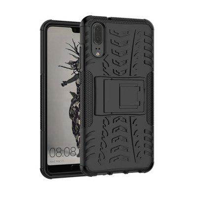 Kickstand Case for Huawei P20 TPU + PC Hard Cover