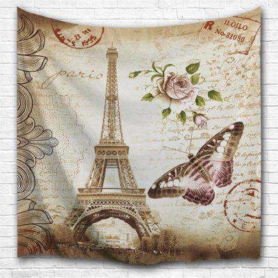 Butterfly Tower 3D Printing Home Wall Hanging Tapestry for Decoration