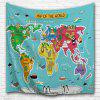 Cartoon World Map 3D Printing Home Wall Hanging Tapestry for Decoration - MULTI-A