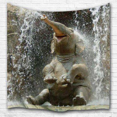 Happy Little Elephant 3D Printing Home Wall Hanging Tapestry for Decoration