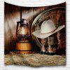 Cowboy Lanterns 3D Printing Home Wall Hanging Tapestry for Decoration - MULTI-A