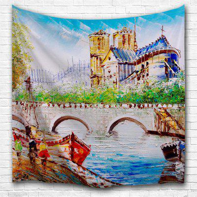 Seine River 3D Printing Home Wall Hanging Tapestry for Decoration
