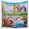 Seine River 3D Printing Home Wall Hanging Tapestry for Decoration - MULTI-A