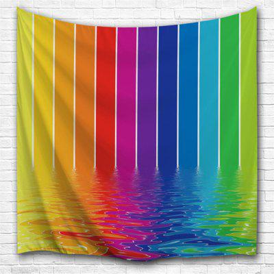 Water Lines Rainbow 3D Printing Home Wall Hanging Tapestry for Decoration