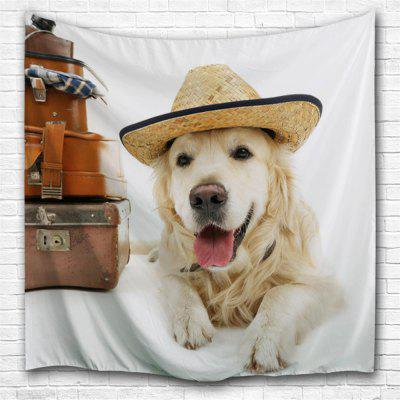 Puppy Traveller 3D Printing Home Wall Hanging Tapestry for Decoration