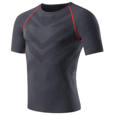 Men's Short-Sleeved Fitness Basketball Running Stretch Skin-Tight Dry T-Shirt