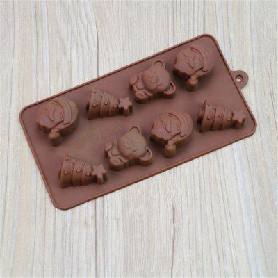 Silicone Santa Chocolate Molds