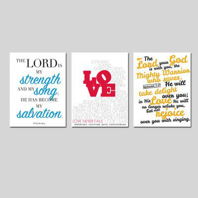 Фото Modern Simple Living Room Sofa Background Bedroom Print English Letter 3PCS