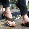 Summer Leather Men Flops Shoes Leather Sandals Male Slipper Casual Beach Shoes - DEEP BROWN