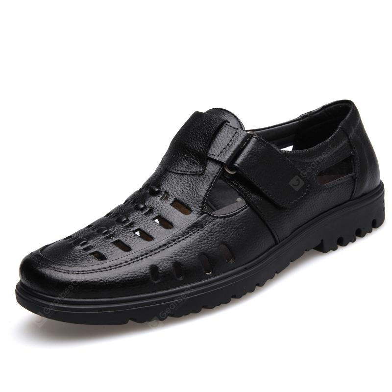 Summer Men'S Casual Shoes Hollow Out Breathable Male Flats Comfortable Sandals