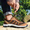 ZEACAVA Large Size Sports Casual Outdoor Mesh Shoes - LIGHT BROWN