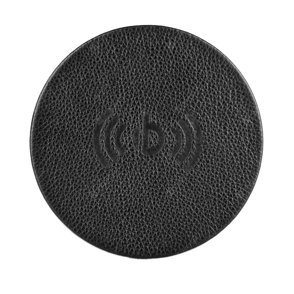 Round Imported First Layer Leather Wireless Charge QC.10